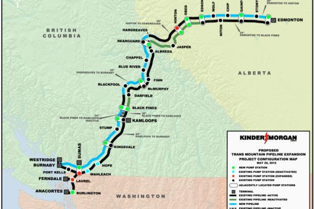 Kinder Morgan Trans Mountain pipeline diagram