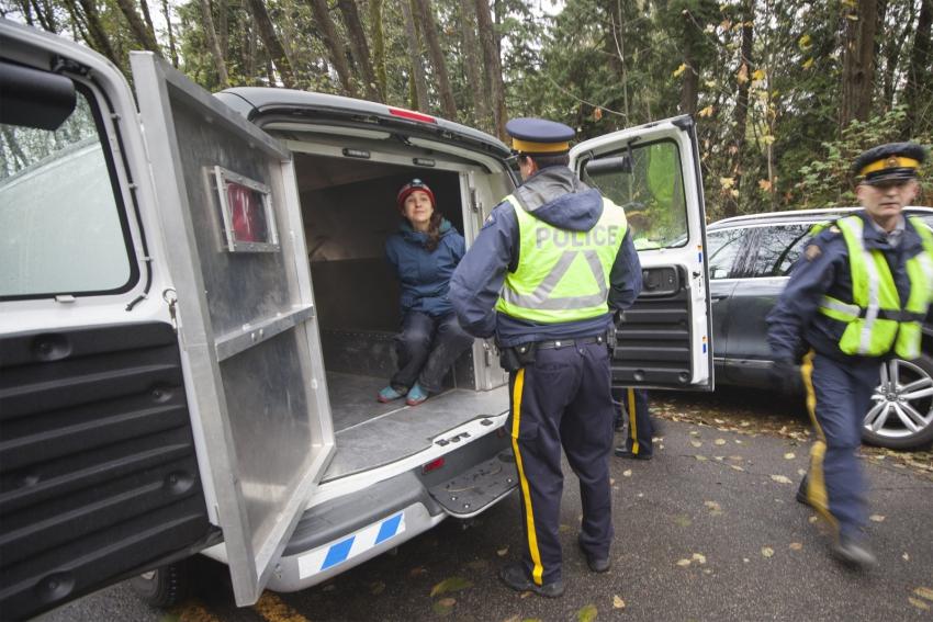 Brigette DePape arrested Burnaby Mountain - Mychaylo Prystupa - Kinder Morgan