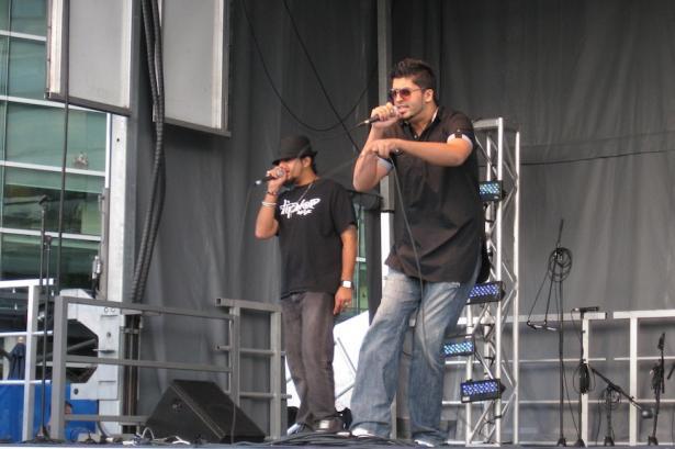 dj HMD and BattleKATT perform dip-hop music during Celebrate the Harvest