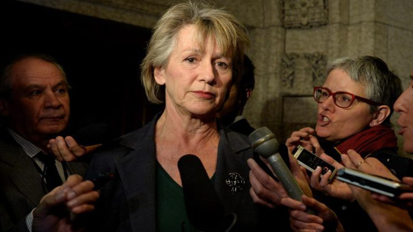 Joyce Murray takes full responsibility for the ad, during a March media scrum. C