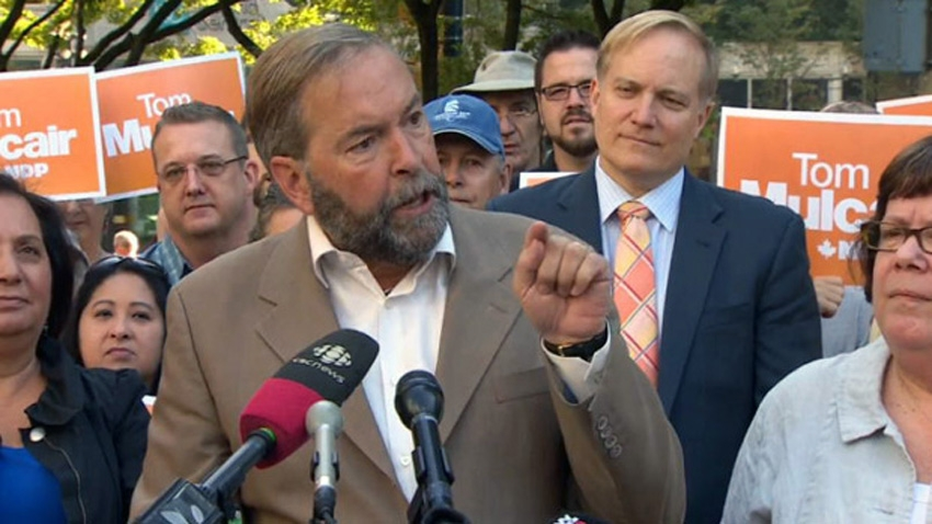 Mulcair in Vancouver (file photo - video still)