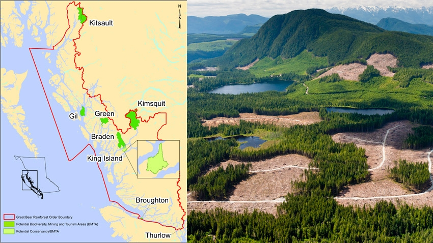 B.C. Environment map; TimberWest logging, South Central Coast area, 2011 photo b