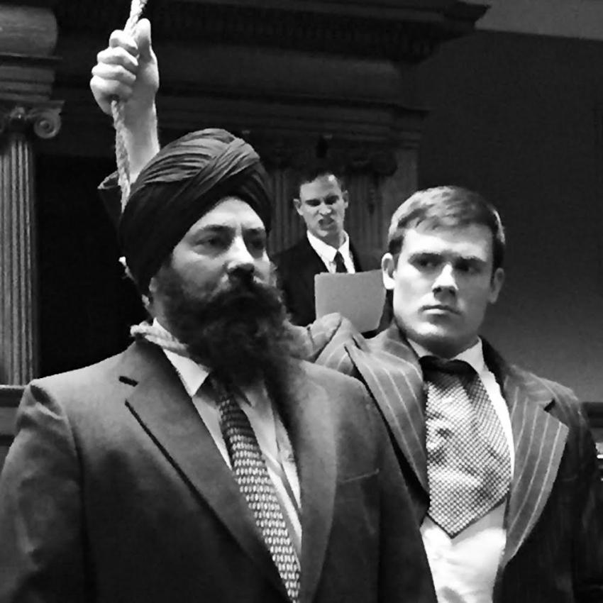 Mewa Singh, played by Harwant Brar, with prosecutor