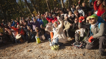 Kinder Morgan protesters on Burnaby Mountain