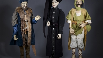 Three marionettes by Jorge Cerqueira, 2012.  Photo by Kyla Bailey