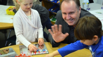 Education Minister Mike Bernier visiting Ecole Cedardale in West Van in 2015