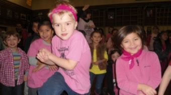 Mount Pleasant students celebrate Pink Day.