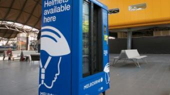 Bike helmet dispenser in Melbourne