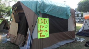 Photo of Oppenheimer Park protest in June by Valentina Ruiz Leotaud