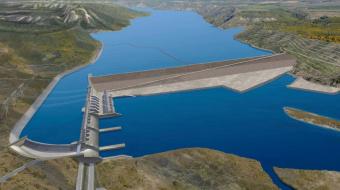Conceptual image of Site C Dam