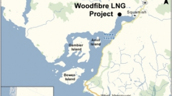 Map of Woodfibre LNG project proposed for Squamish