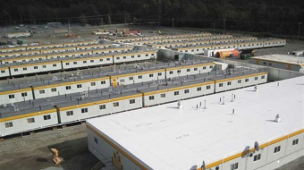 """The Atco """"construction village"""" in Kitimat's LNG development zone houses 1,500 w"""
