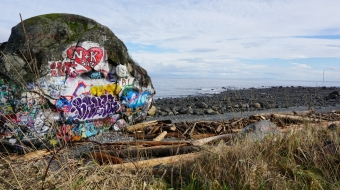 The Big Rock, Campbell River, Discovery Passage, Vancouver Island, tourism