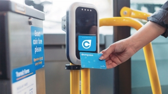 Compass card reader. Translink photo