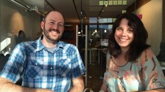 Chris Priebe and Karen Olsson of Community Sift