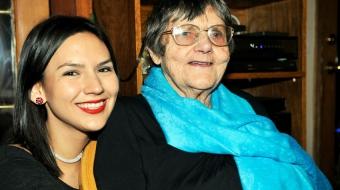 Elsie Dean and granddaughter Mic