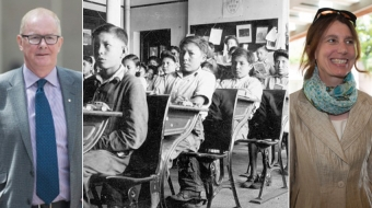 John Furlong, Laura Robinson and an archival residential school image