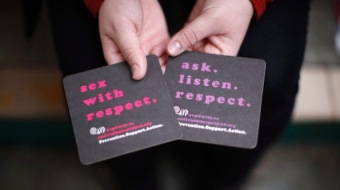 UVIc coasters with supportive messages