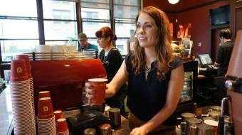Yaletown, Caffe Artigiano, Davie Street, coffee shop, downtown Vancouver