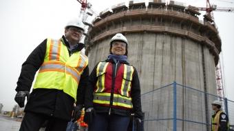Premier Christy Clark Delta Tilbury LNG plant construction - Mychaylo Prystupa