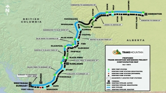 Pipeline expansion plan. Image from Trans Mountain