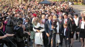 Justin Trudeau, Liberal Party of Canada, swearing-in ceremony, Rideau Hall, Otta