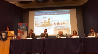 """Panelists and Action Canada Fellows at """"Creative Disruption"""" Water"""