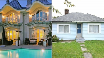 Real estate comparison: $18.8M West Van waterfront vs $599,000 New West bungalow