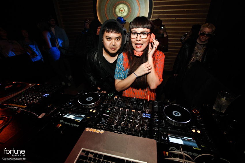 DJ Rico Uno (left) and DJ Sincerely Hana (right)